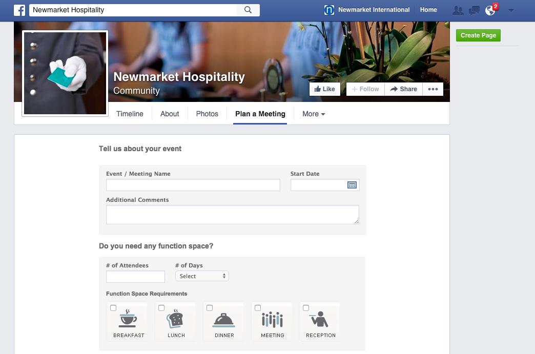 Newmarket Hospitality Facebook