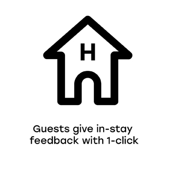 Guests Give In-Stay Feedback With 1-Click