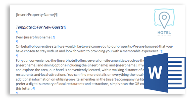 How To Write A Hotel Guest Welcome Letter W Freetemplates