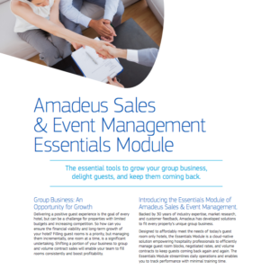 Amadeus Sales & Event Management Essentials Module