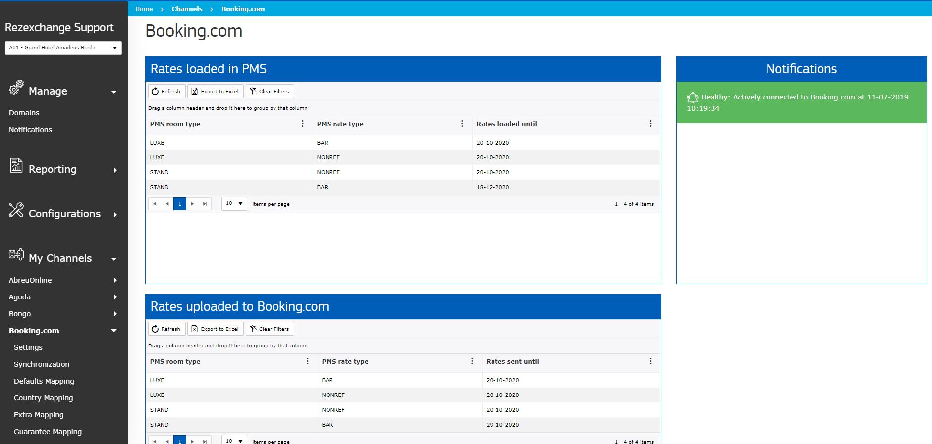 RezExchange Self Service Screenshot