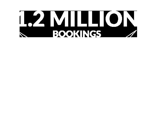 1.2 Million Bookings